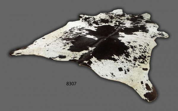 Cowhide, Black & White speckled 8307
