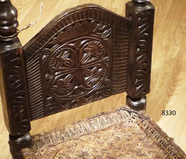 Carved low chair 8330