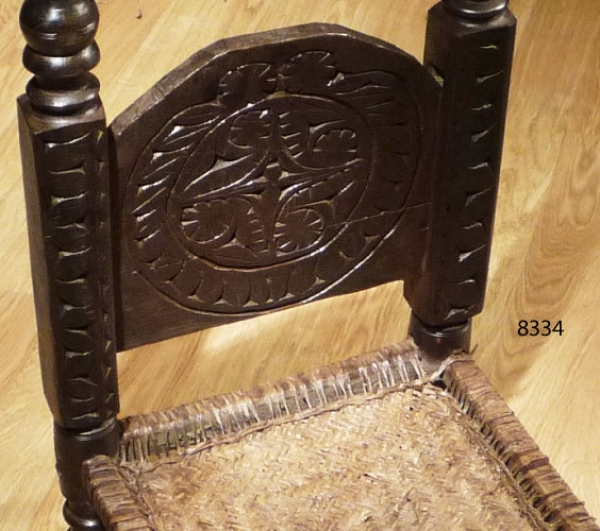 Carved low chair 8334