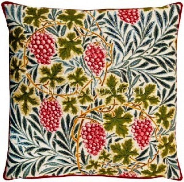 Vines - White Tapestry Cushion 8564