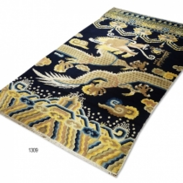 Chinese pillar rug (Antique) 1309