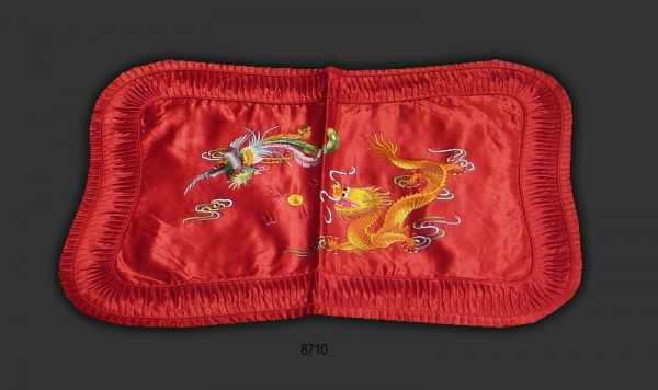 Chinese Silk Embroidered Pillow Case 8710