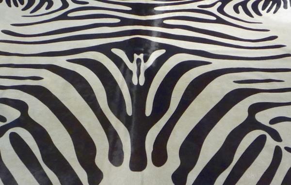 Cowhide printed Zebra 9335