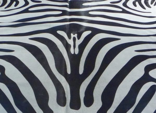 Cowhide printed Zebra 9336
