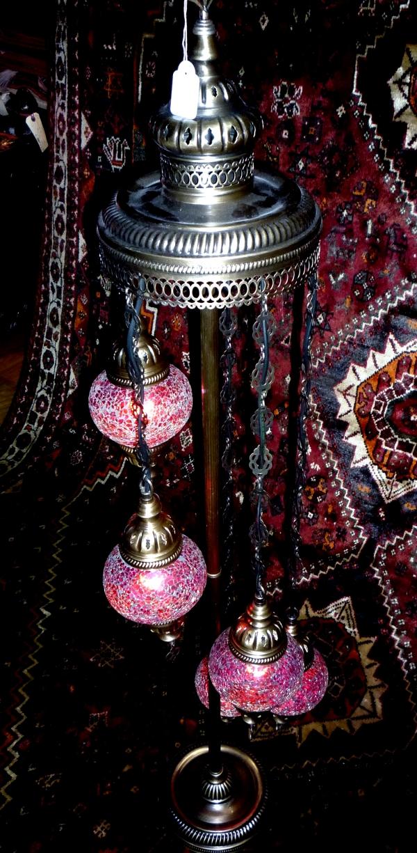 Agri standing spiral 5 mosaic lamp 9084