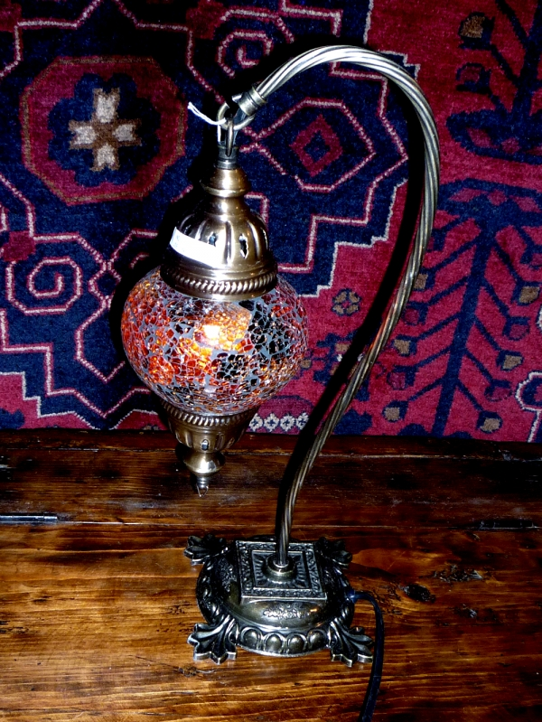 Istanbul mosaic swan neck lamp 9080 SOLD