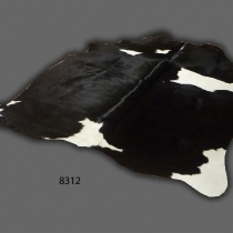 Cowhide, Black & White 8312