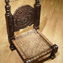 Carved low chair 8332