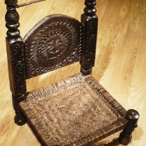 Carved low chair 8335