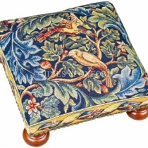 Birds & Acanthus Tapestry Footstool 8586