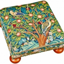 Woodpecker Tapestry Footstool 8587