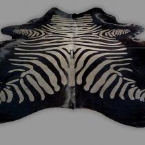 Cowhide printed Zebra 9334
